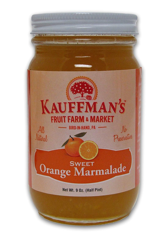 Elegant Kauffman's All-Natural Sweet Orange Marmalade 9 Oz. New Orleans Mall Jar