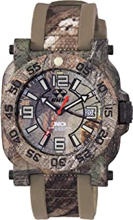 REACTOR Men's Gryphon Stainless Steel Swiss-Quartz Sport Watch with Rubber Strap, Brown, 22 (Model: 73826)