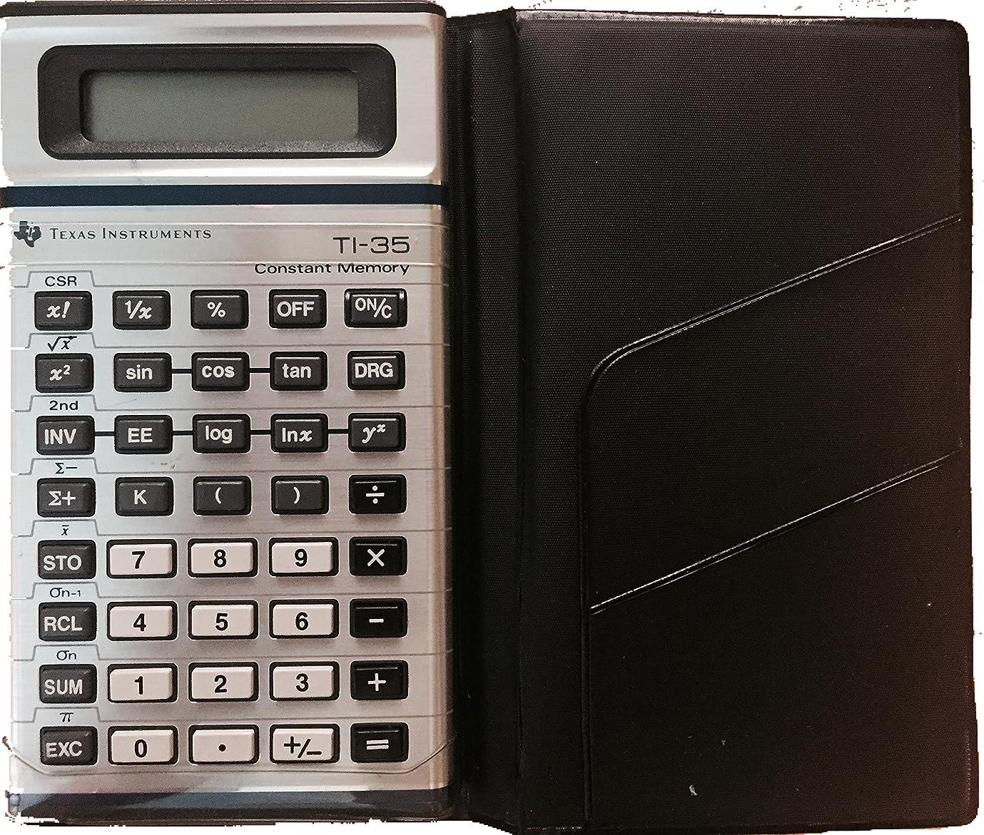 操作ごちそう発火するTexas Instruments ti-35定数メモリScientific Calculator