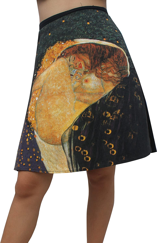 Raan Pah Muang RaanPahMuang Gustav Klimt Danae Mini Wrap Skirt