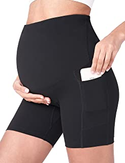 Sponsored Ad - POSHDIVAH Women's Maternity Yoga Shorts Over The Belly Bump Summer Workout Running Active Short Pants with ...