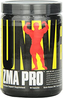 Universal Nutrition ZMA Pro Supplement - Zinc, Magnesium, Vitamin B6 - Nighttime Recovery Aid for Better Sleep - 90 Capsules