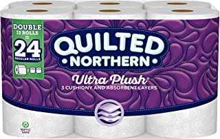 Quilted Northern Ultra Plush Toilet Paper, Double Rolls, 12 Count of 176 3-Ply Sheets Per Roll, 12 Count (Pack of 1)