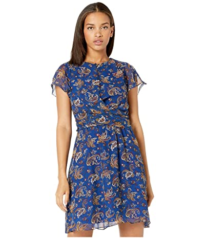 Sam Edelman Paisley A-Line Dress (Blue Multi) Women