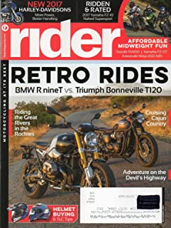 Rider 2016 Magazine Motorcycling At It`s Best ADVENTURE ON THE DEVIL`S HIGHWAY Helmet Buying & TLC Tips