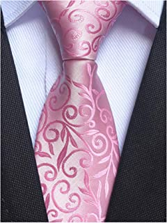 Mens Novelty Floral Wedding Tie Jacquard Woven Luxury Pattern Slim Necktie 3.15