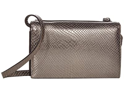 AllSaints Fetch Chain Crossbody Wallet (Gunmetal) Handbags