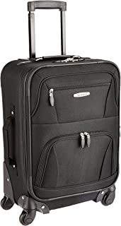 Pasadena Softside Spinner Wheel Luggage, Black, Carry-On...