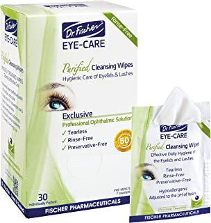 dr fischer eye care purified cleansing wipes