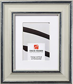 Craig Frames American Colonial, 16 x 20 Inch Light Gray Hardwood Picture Frame Matted to Display a 11 x 14 Inch Photo