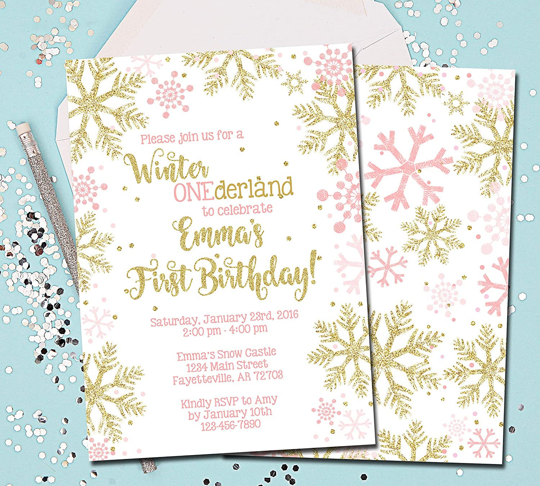 Gifts Winter ONEderland price Invitations Birthday Wo 1st