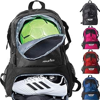 Athletico 国家足球袋 - 背包足球、篮球和足球包括单独的钉珠支架 青年、儿童、女孩、男孩、男女