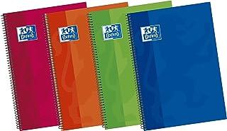 Oxford Classic 100430151 - Pack de 5 cuadernos espiral de tapa extradura, 4º