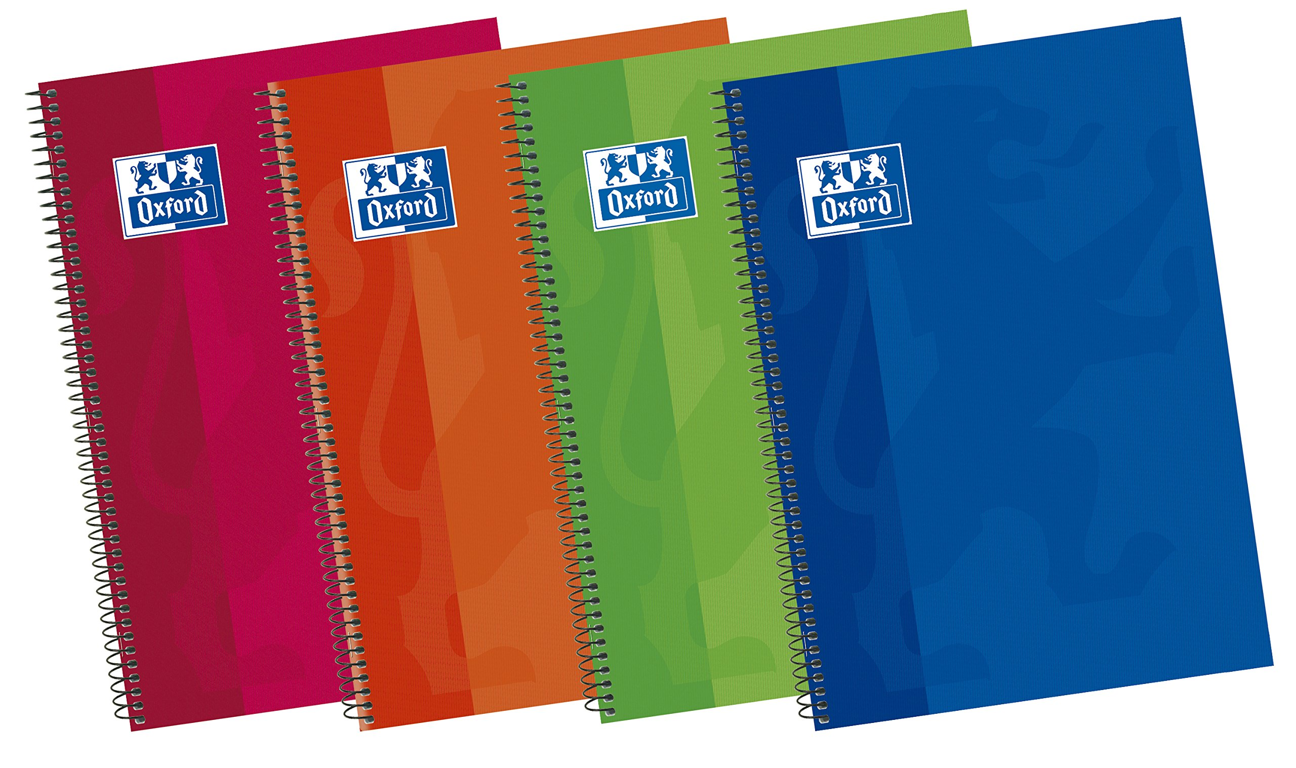 Oxford Classic 400043990 - Pack de 5 cuadernos espiral de tapa extradura, 4º: Amazon.es: Oficina y papelería