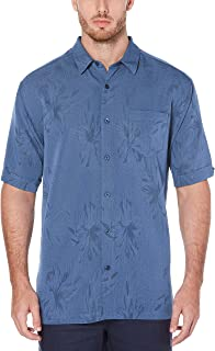 Men's Short Sleeve Polyester L-Shape Embroidered Button-Down Shirt
