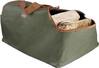 Esschert Design Draagtas voor haardhout, groen, 59 x 39,5 x 38,5 cm