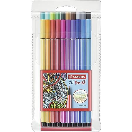 Premium Filzstift Stabilo Pen 68 20er Pack Mit 20 Verschiedenen Farben Bürobedarf Schreibwaren