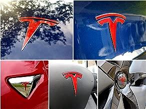 EV Wraps Tesla Model 3 Logo Decal Bundle (Gloss Red)
