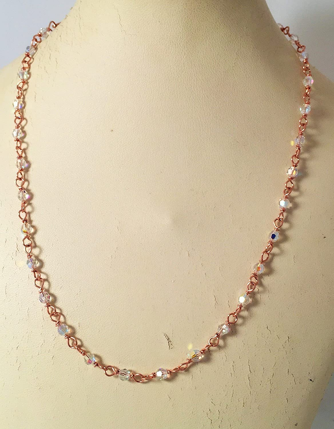 Crystal Rose Gold Necklace 2021new shipping lowest price free