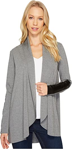 Raw Edge Drape Cardigan