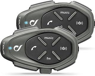 Interphone Cellularline TOUR TWIN | Motorfiets Bluetooth Communicatiesystemen - 4 motorrijders 1,5Km - Een Gespreksduurtij...