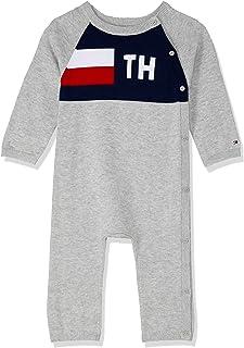 Tommy Hilfiger Baby Baby Monogram Cotton Bodysuit, Grey Heather, 9-12
