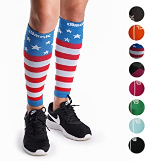 dimok Calf Compression Sleeves Pair - Leg Compression Socks for Calves Running Women Men Kids Best for Shin Splint Muscle Pain Better Circulation