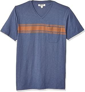 Goodthreads Amazon Brand Men's Lightweight Slub V-Neck Pocket T-Shirt
