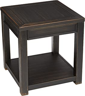 Signature Design by Ashley - Gavelston End Table, Rubbed Black Finish