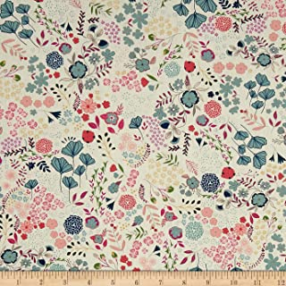 Art Gallery Flower Child Blooming Ground Lustrous, Quilting Fabric by the Yard