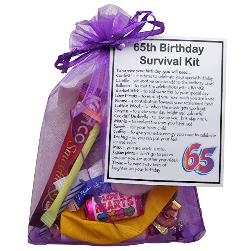 65th Birthday Survival Kit Gift Small Novelty Gifts For