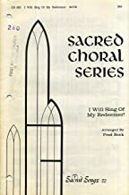 I Will Sing of My Redeemer SATB Sheet Music with Piano Accompaniment