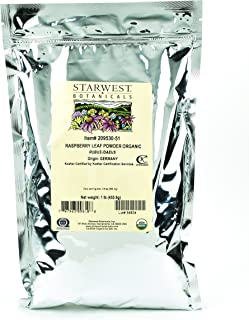 Starwest Botanicals Organic Raspberry Leaf Powder, 1 Pound