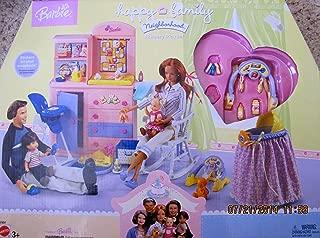 BARBIE HAPPY FAMILY Neighborhood NURSERY PLAYSET w DRESSER, BASSINETTE, ROCKER & More (2003)