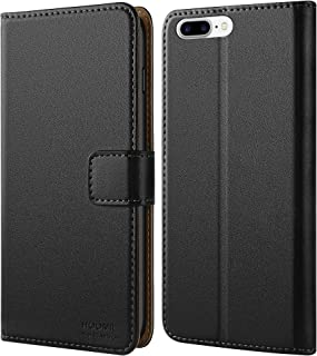 HOOMIL Premium Leather Flip Wallet Phone Case Cover for Apple iPhone 7 Plus /iPhone 8 Plus - Black