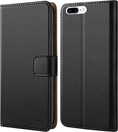 HOOMIL Funda iPhone 7 Plus, Funda iPhone 8 Plus, Cuero Premium Carcasa para Apple iPhone 7 Plus/iPhone 8 Plus Case (Negro)