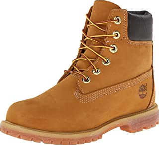 Timberland Women's 6-Inch Premium Waterproof Boots, Womens Shoes, Yellow (Wheat Nubuck), 8 US