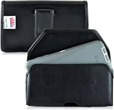 product image for Turtleback Holster Made for Motorola Droid Turbo 2 with Otterbox Defender case Black Belt Case Leather Pouch with Executive Belt Clip Horizontal Made in USA