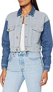 Tommy Hilfiger Tjw Cropped Trucker Giacca in Jeans Donna