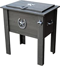 Leigh Country TX 93728 Cooler with Grey Wash Stain on Pine Wood, 54-Quart