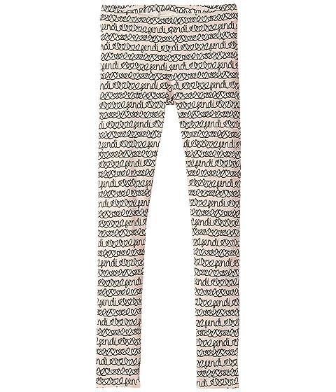 Fendi Kids All Over Heart Print Leggings (Big Kids)