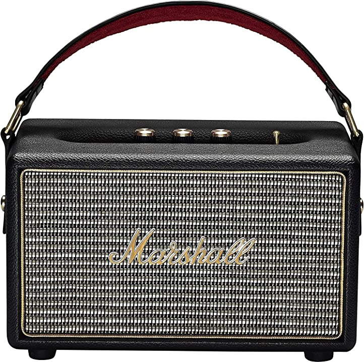 Marshall speaker kilburn portatile a batteria bluetooth per mp3/smartphone, nero 04091189