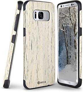 Galaxy S8 Plus Case, B BELK [Slim to Beat] Soft Wood Air Cushion Premium Rubber Bumper [Thin Light] Flexible TPU Back Cover, Shock Resistant Wooden Armor for Samsung Galaxy S8 Plus - 6.2 inch, Birch