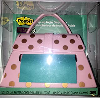 3M Post-it Pink Purse With Golden Dots Pop-up Note Dispenser