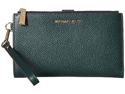 MICHAEL Michael Kors Double Zip Wristlet (Dark Atlantic) Wristlet Handbags