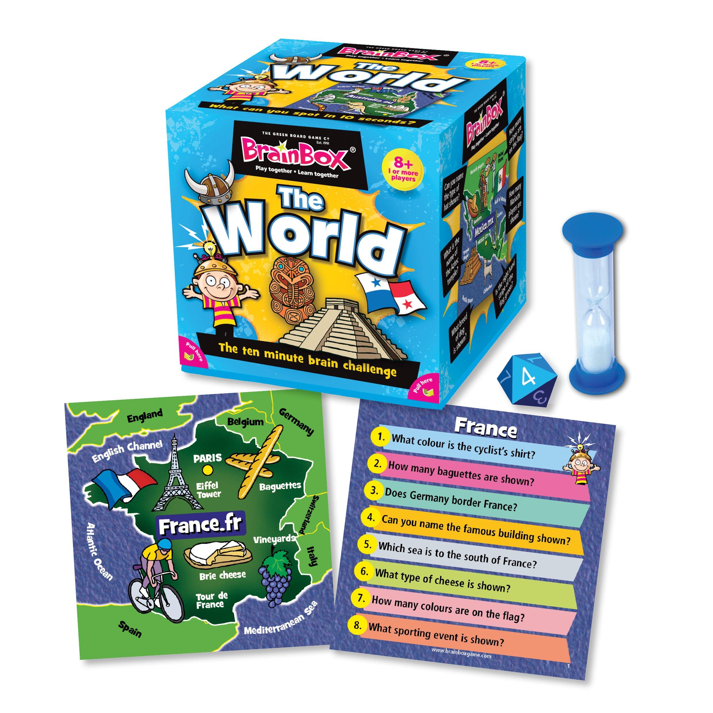 Green Board Games BrainBox The World - Juego de Preguntas sobre el Mundo (en inglés): Brainbox: The World: Amazon.es: Juguetes y juegos