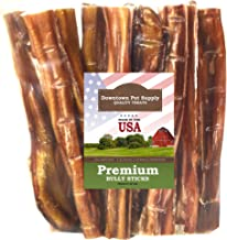 Downtown Pet Supply 6 Inch American Bully Sticks for Dogs Made in USA - Odorless Dog Dental Chew Treats, High in Protein, ...