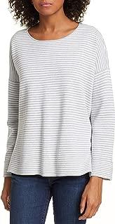 Dark Pearl/White Fine Organic Cotton/Silk Roundl Neck Box-Top Size XL MSRP $198