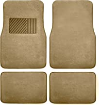FH Group F14403BEIGE Beige Carpet Floor Mat with Heel Pad (Deluxe)