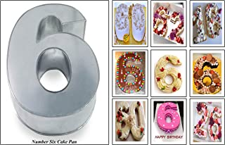 Small Number Six 6 Wedding Birthday Anniversary Cake Baking Pan / Tin 10